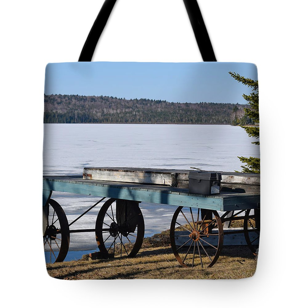 Boat Dock Tote Bag featuring the photograph The Long Wait by William Tasker