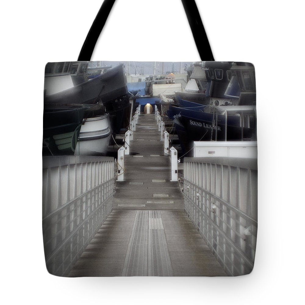 Art Tote Bag featuring the photograph The Long Walk To Work by Clayton Bruster