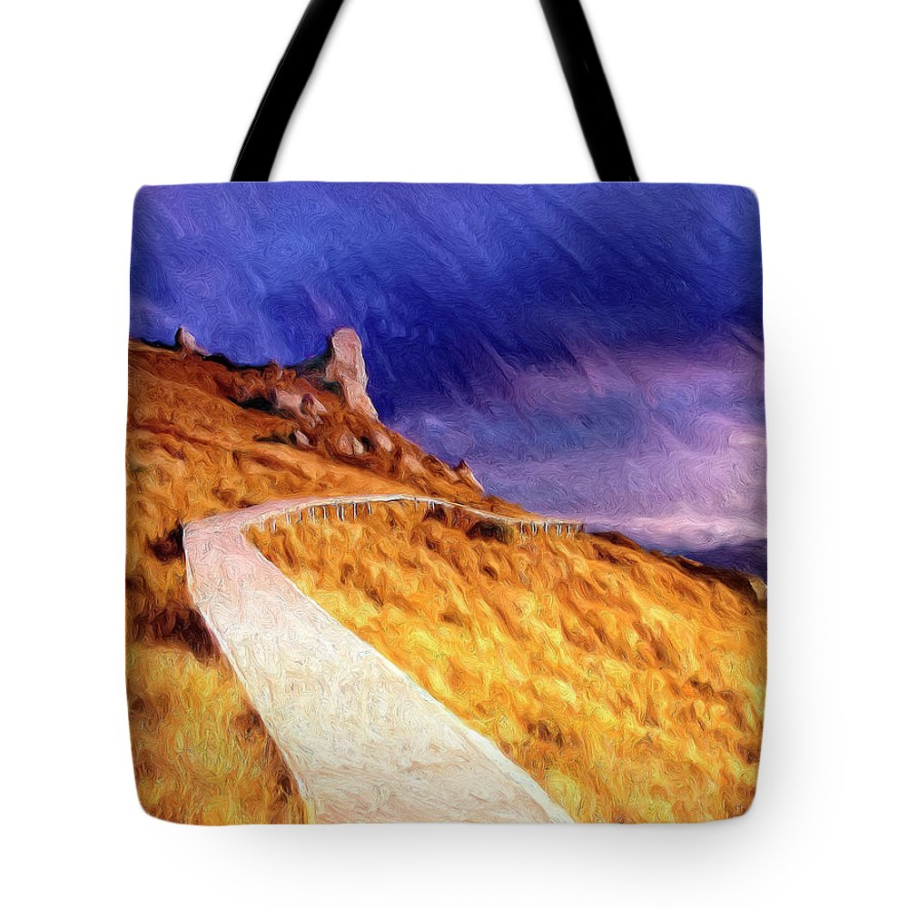 The Long Way Home Tote Bag featuring the painting The Long Way Home by Dominic Piperata