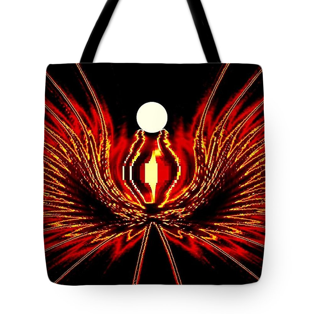Abstract Tote Bag featuring the digital art The Lost Pearl by Will Borden