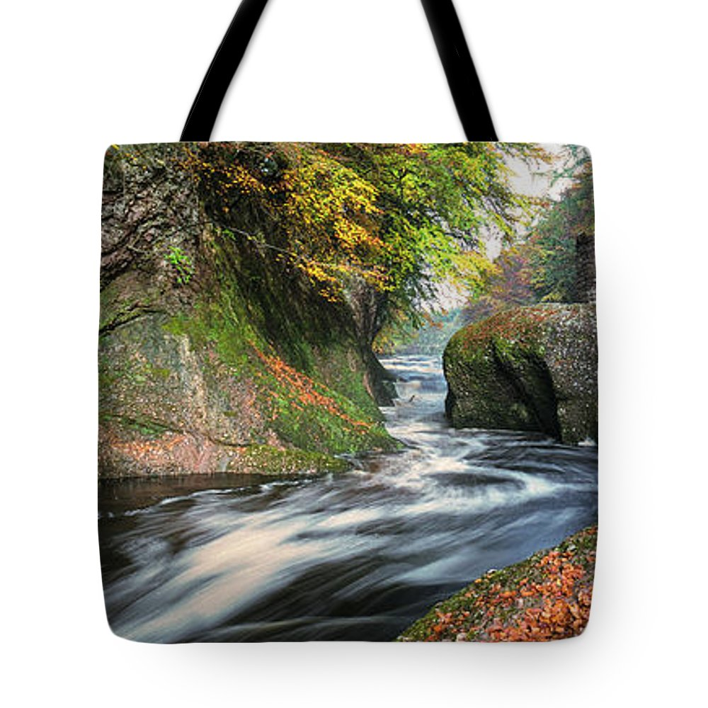 The Loups Tote Bag featuring the photograph The Loups by Dave Bowman