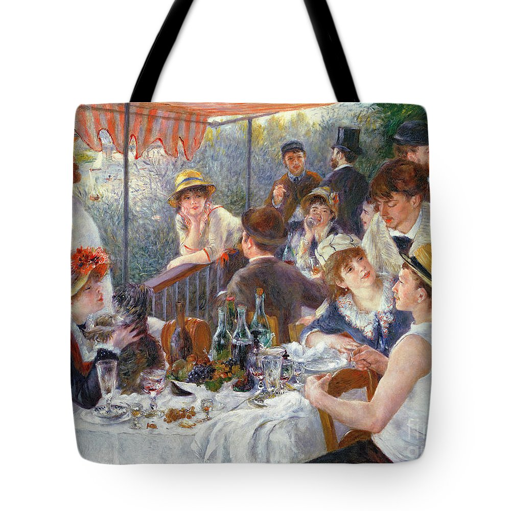 The Tote Bag featuring the painting The Luncheon of the Boating Party by Pierre Auguste Renoir