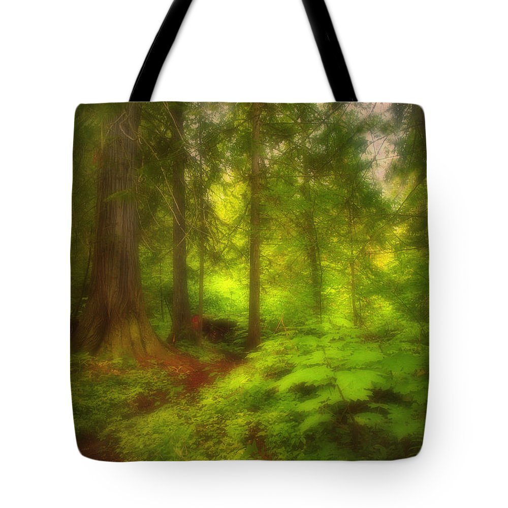 Forest Tote Bag featuring the photograph The Magic Forest by Tara Turner