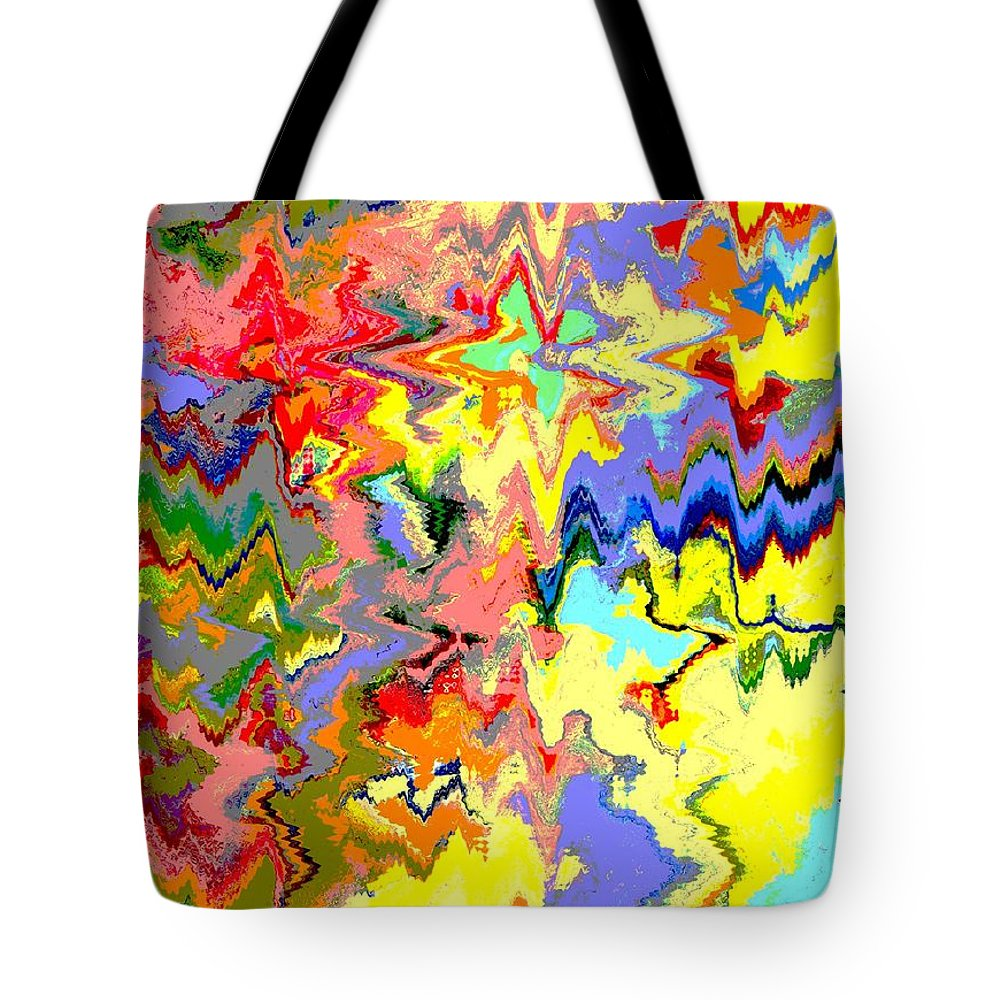 Abstract Tote Bag featuring the digital art The Magical Forest by Lenore Senior