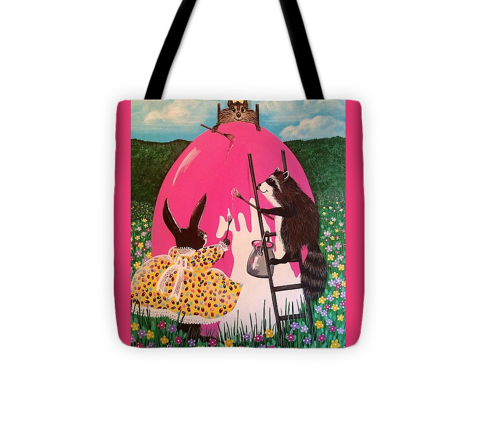 Egg Tote Bag featuring the painting The Magnificent Easter Egg by Jennifer Lake