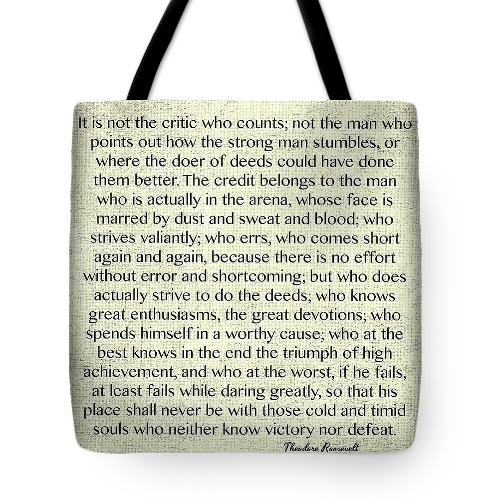 Women Arena Quotes: The Man In The Arena Quote By Theodore Roosevelt On Raw