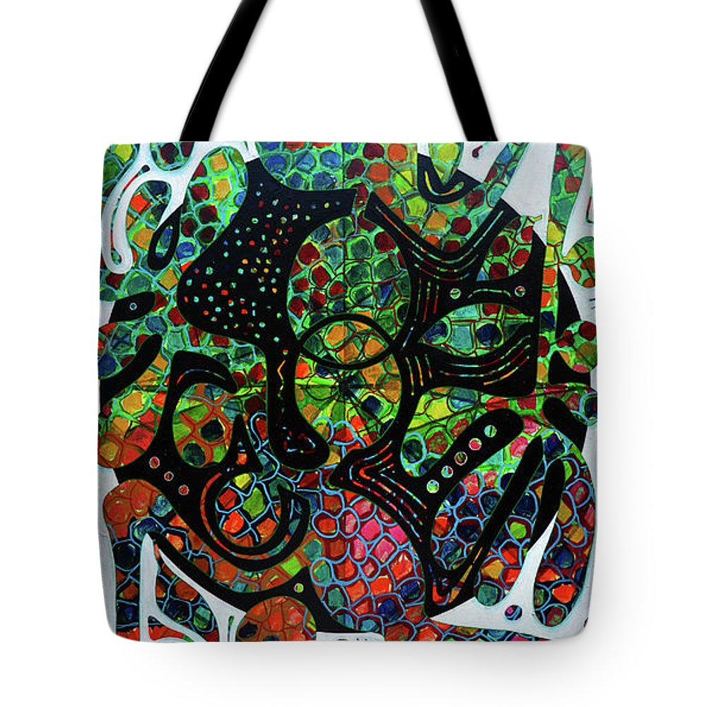 Guadeloupe Tote Bag featuring the painting The Mandorle by Jocelyn Akwaba-Matignon