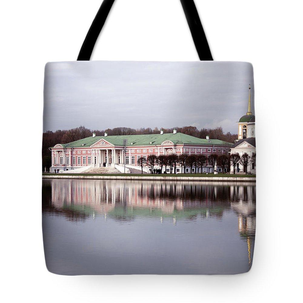 The Manor Of Kuskovo Tote Bag featuring the photograph The Manor Of Kuskovo, Moscow by Margarita Buslaeva
