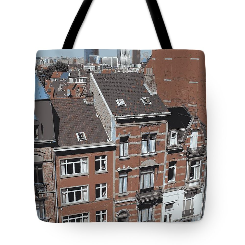 Brussels Tote Bag featuring the photograph The Many Layers Of Brussels by Carol Groenen