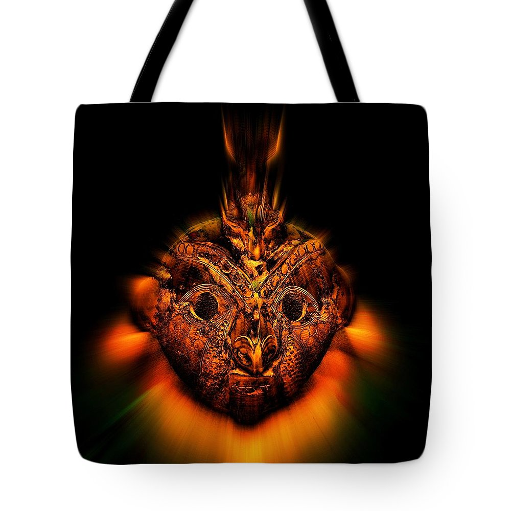 Native Art Tote Bag featuring the photograph The Mask by Andy Klamar