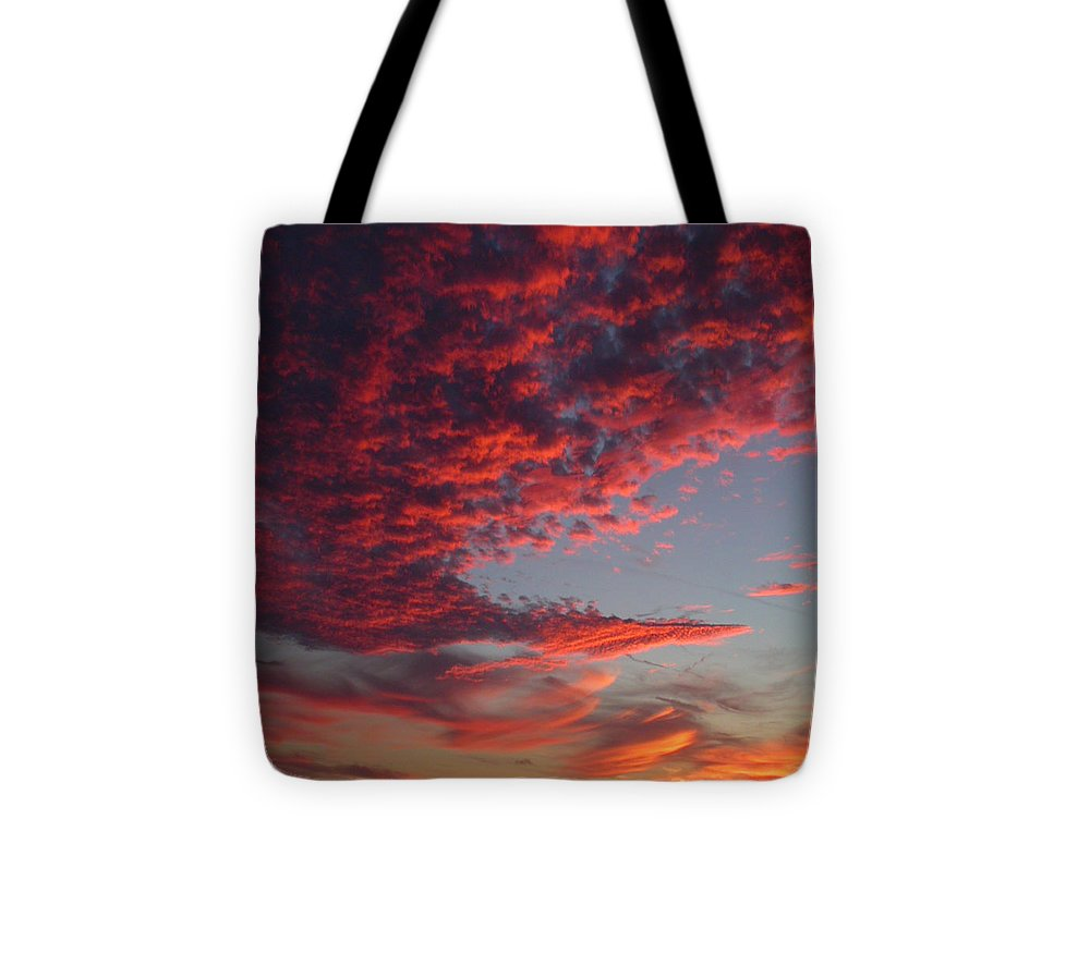 Sunset Tote Bag featuring the photograph The Master Painter by Linda Murphy