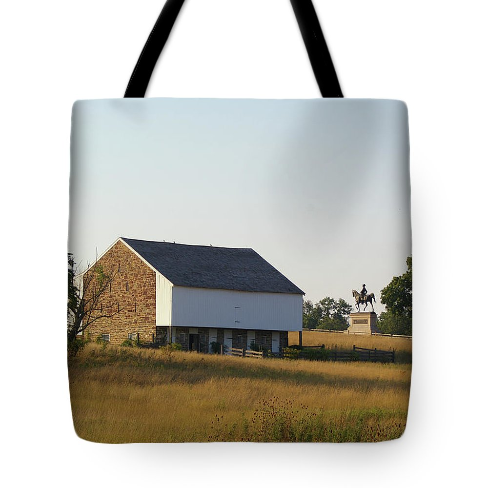 Gettysburg Tote Bag featuring the photograph The Mcpherson Barn by Jen Goellnitz