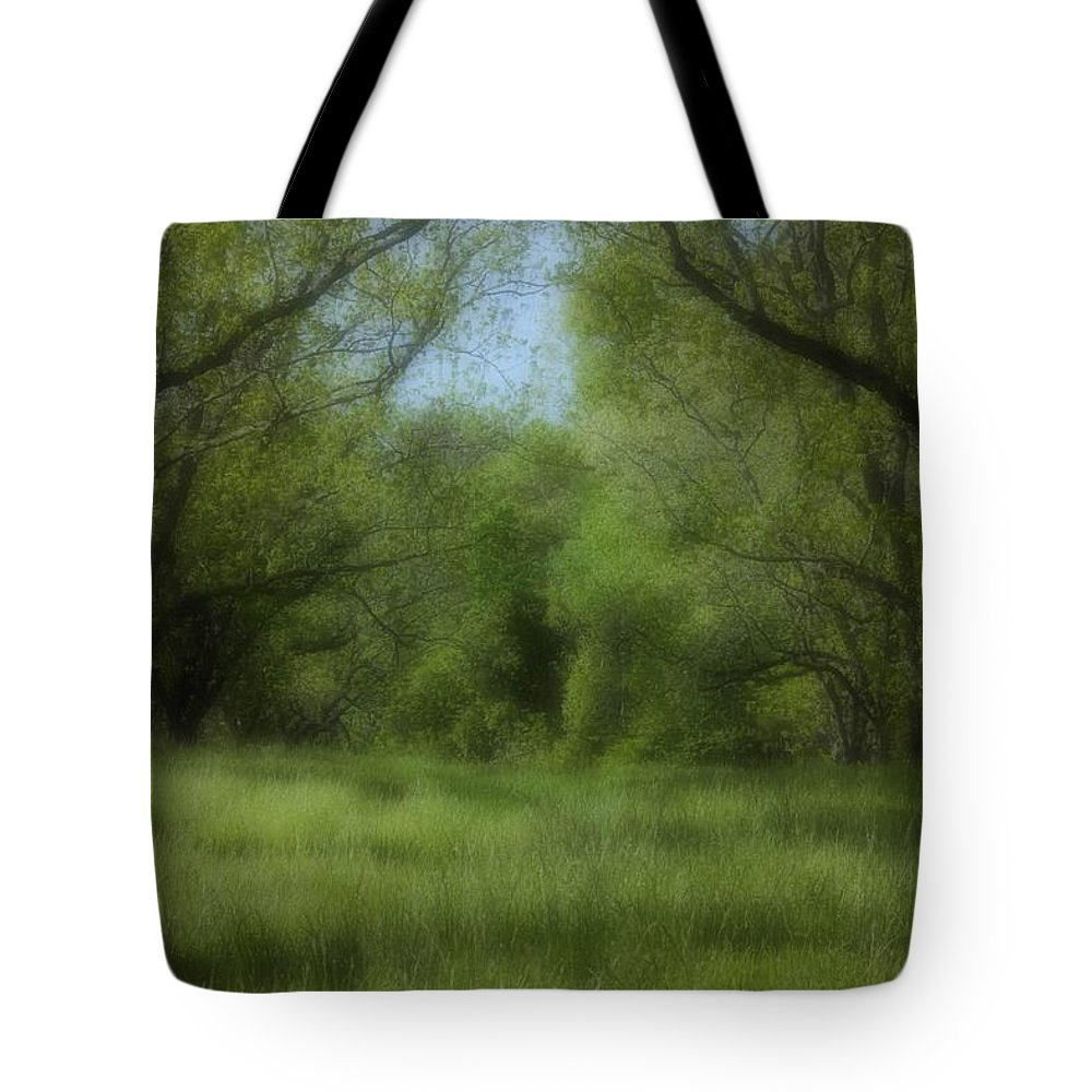 Landscape Tote Bag featuring the photograph The Meadow by Ayesha Lakes