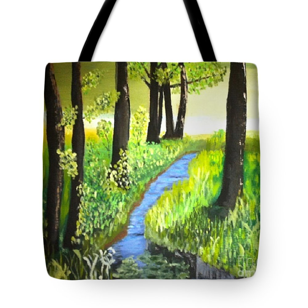 Meadow Tote Bag featuring the painting The Meadow by Rod Jellison