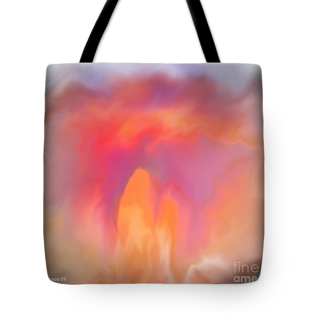Computer Art Tote Bag featuring the digital art The Meeting Place by Shelley Jones