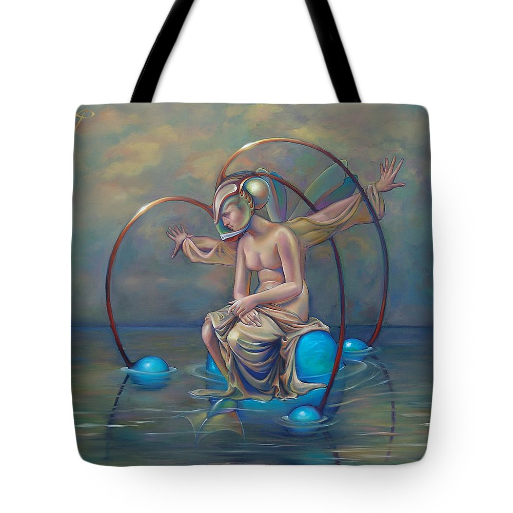 Earth Tote Bag featuring the painting The Metamorphosis Of Gaia by Patrick Anthony Pierson