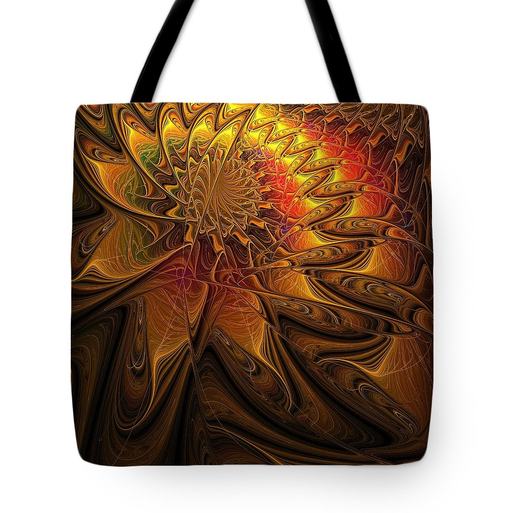 Digital Art Tote Bag featuring the digital art The Midas Touch by Amanda Moore