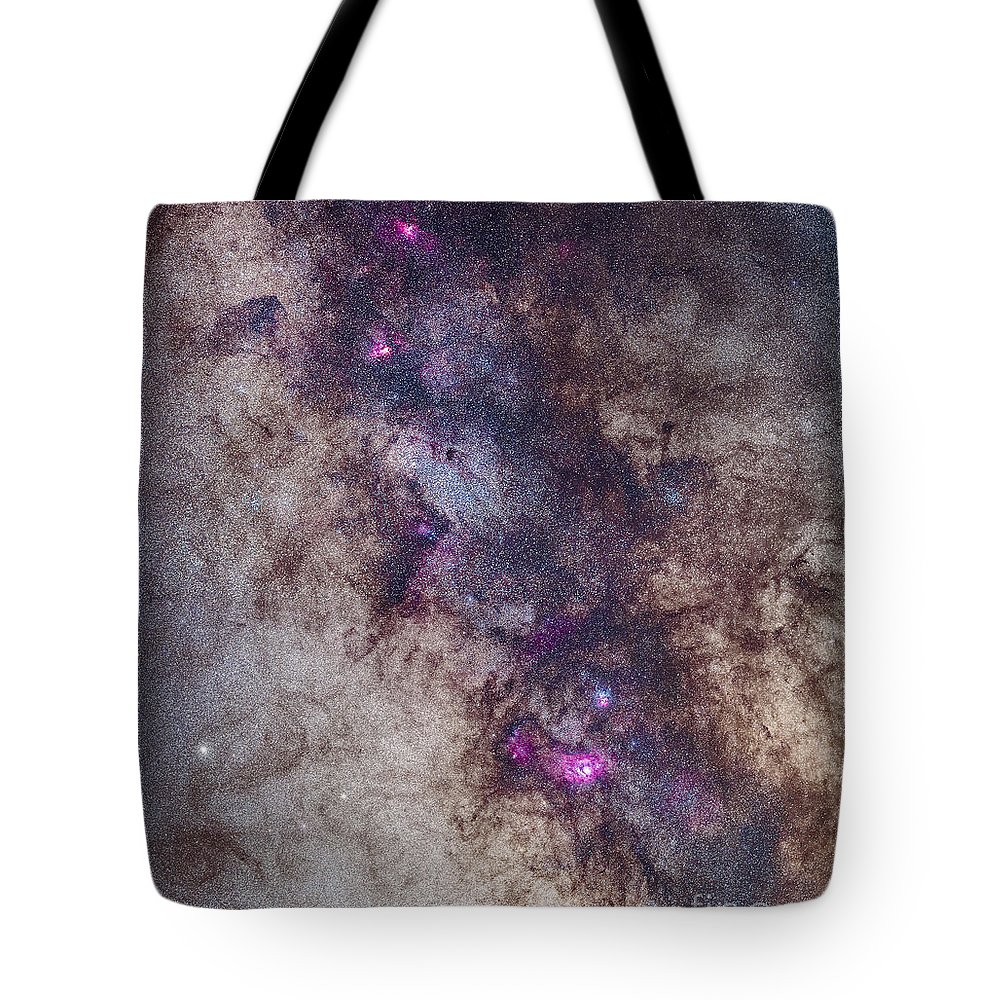 Eagle Nebula Tote Bag featuring the photograph The Milky Way Around The Small by Alan Dyer