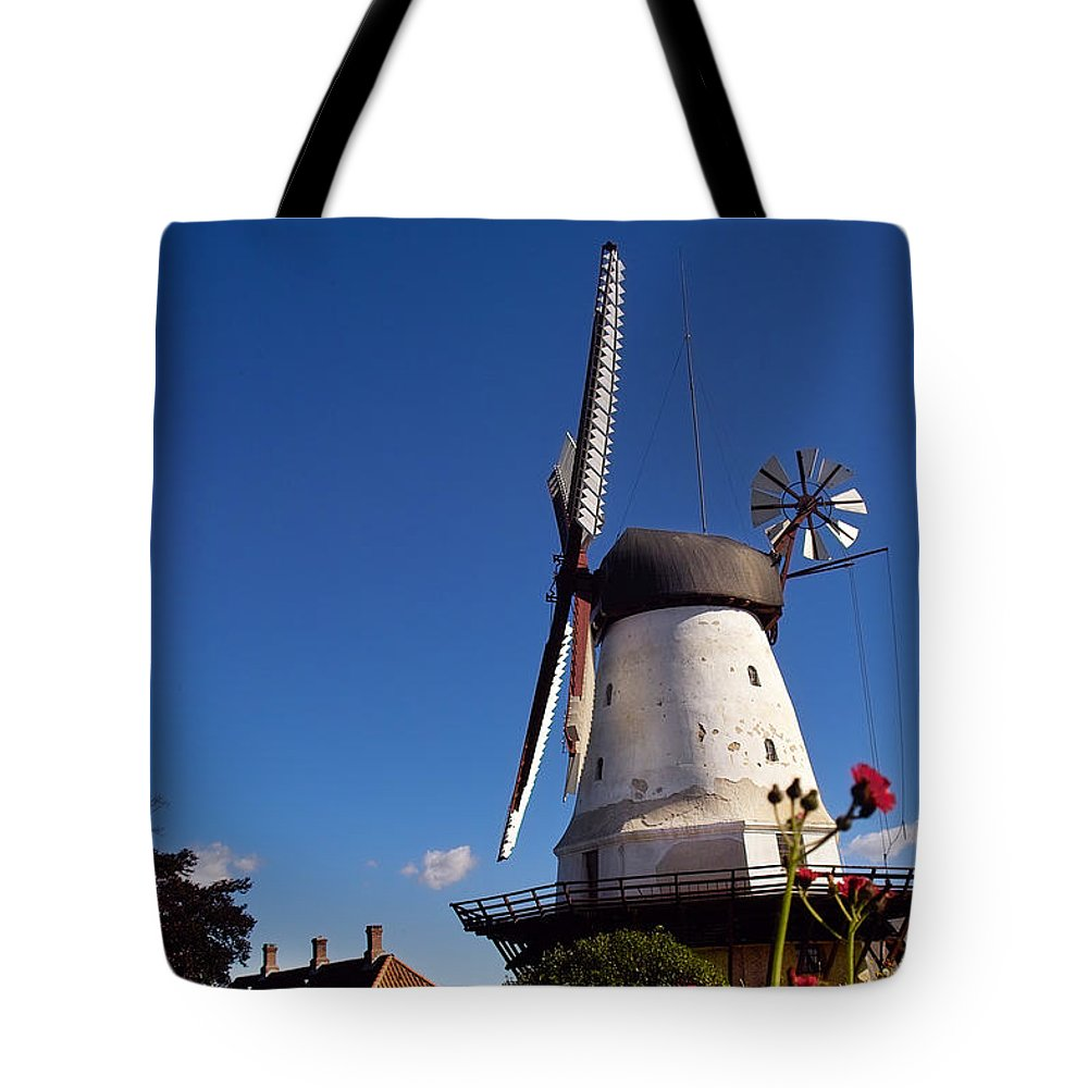 Windmill Tote Bag featuring the photograph The Mill At Dybbol by Robert Lacy