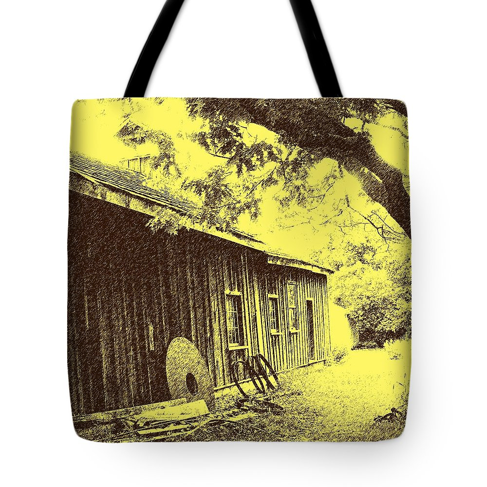 Black Creek Tote Bag featuring the photograph The Millwrights Shed by Ian MacDonald