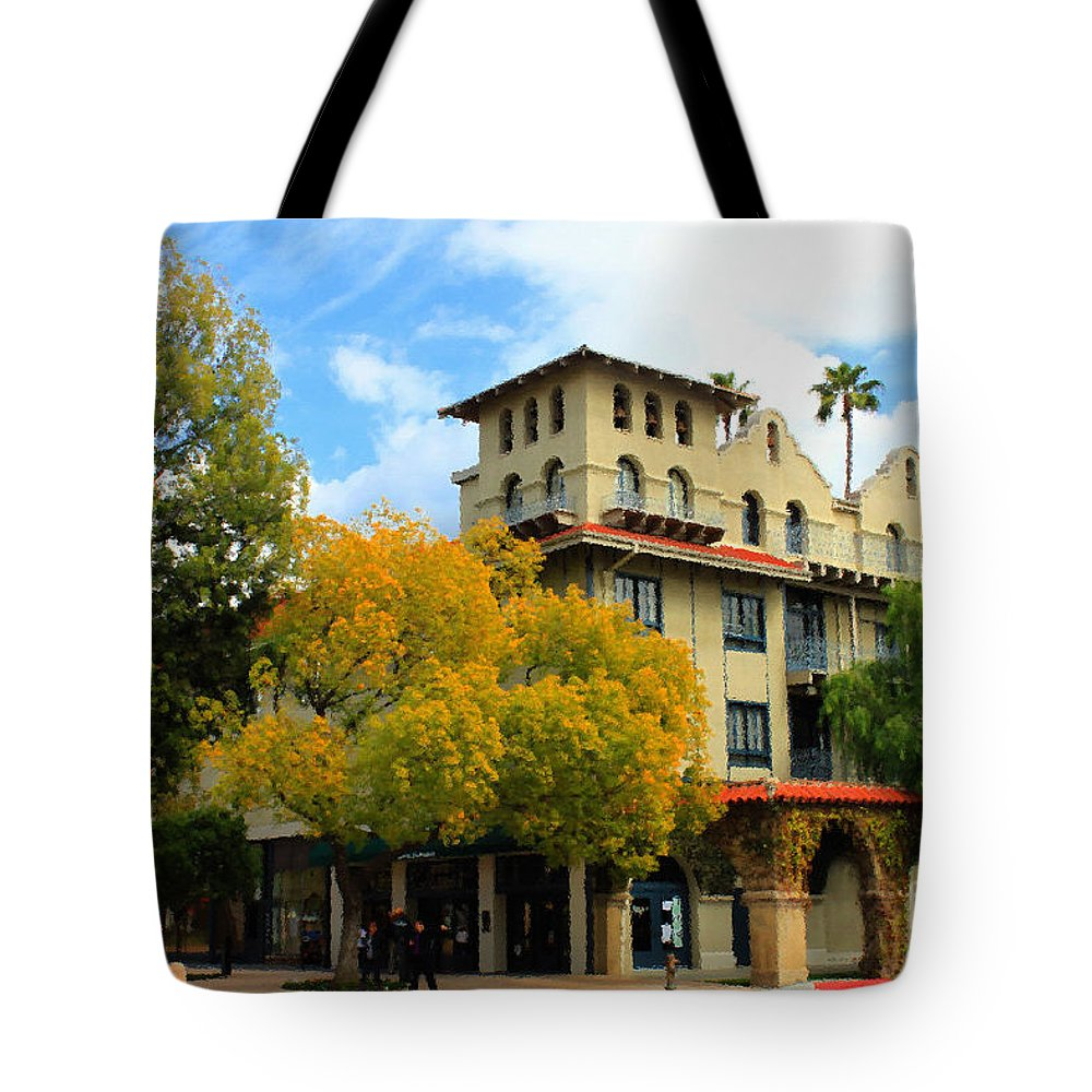 Adobe Tote Bag featuring the photograph The Mission by James Eddy