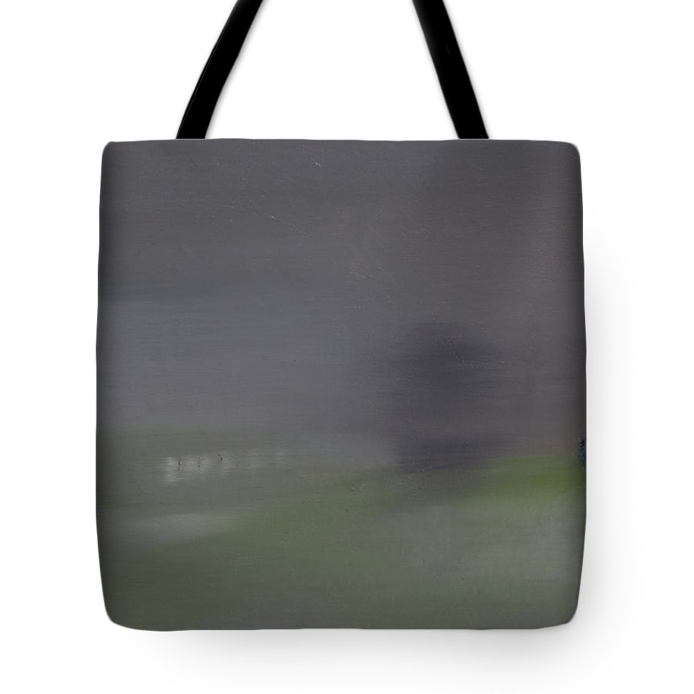 Mist Tote Bag featuring the painting The Mist Series by Yugesh Namdev