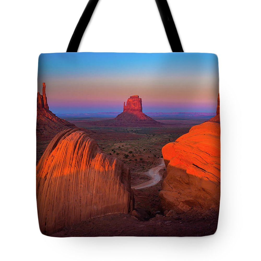America Tote Bag featuring the photograph The Mittens by Inge Johnsson