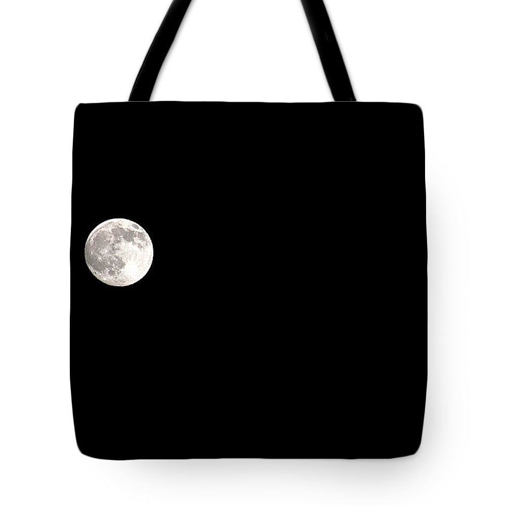 Clay Tote Bag featuring the photograph The Moon by Clayton Bruster