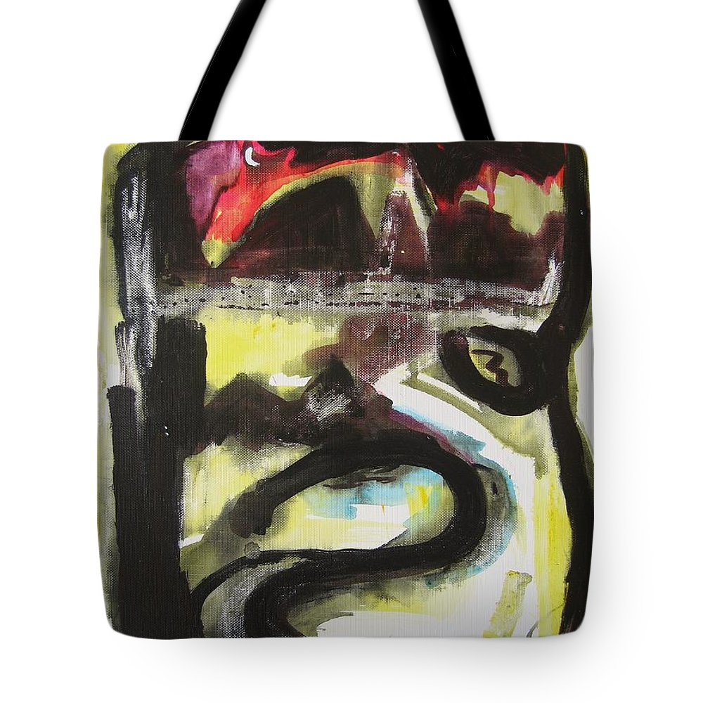 Abstract Paintings Tote Bag featuring the painting The Moon Compassionate by Seon-Jeong Kim
