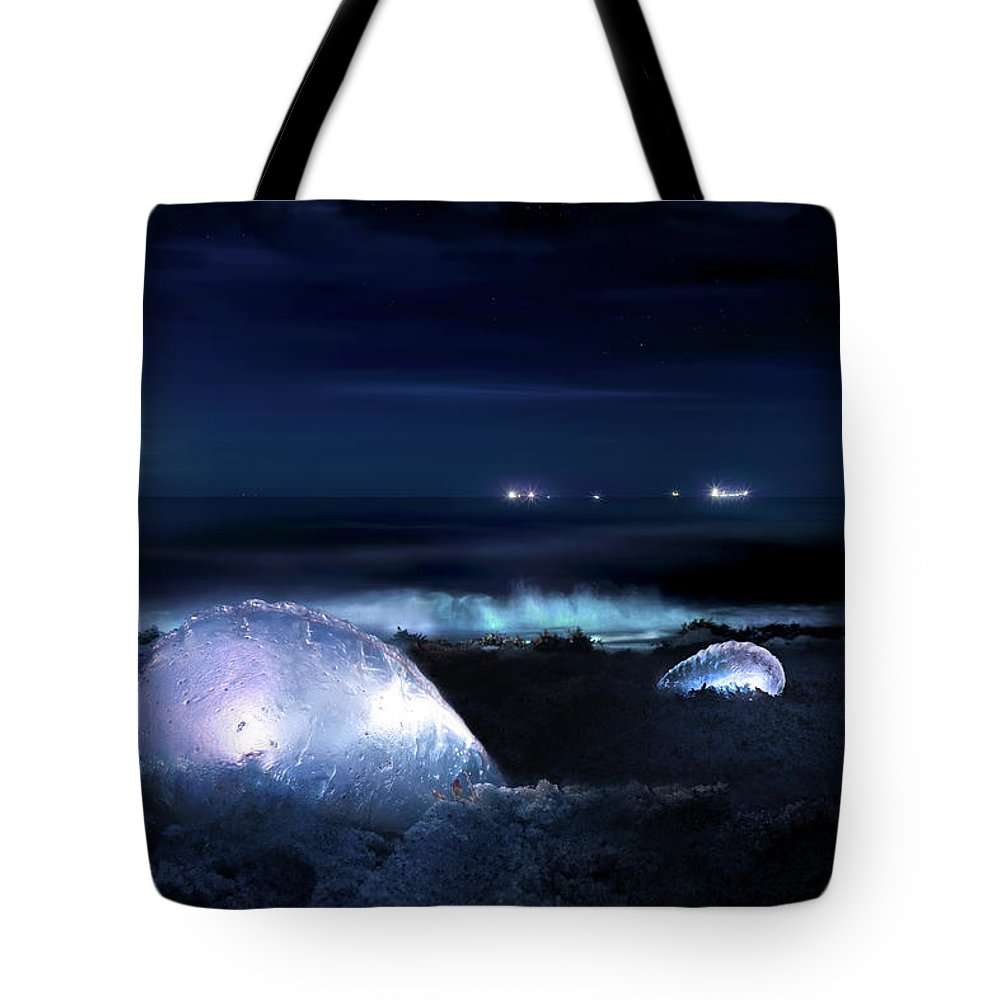 Man O War Tote Bag featuring the photograph The Moon Warriors by Mark Andrew Thomas