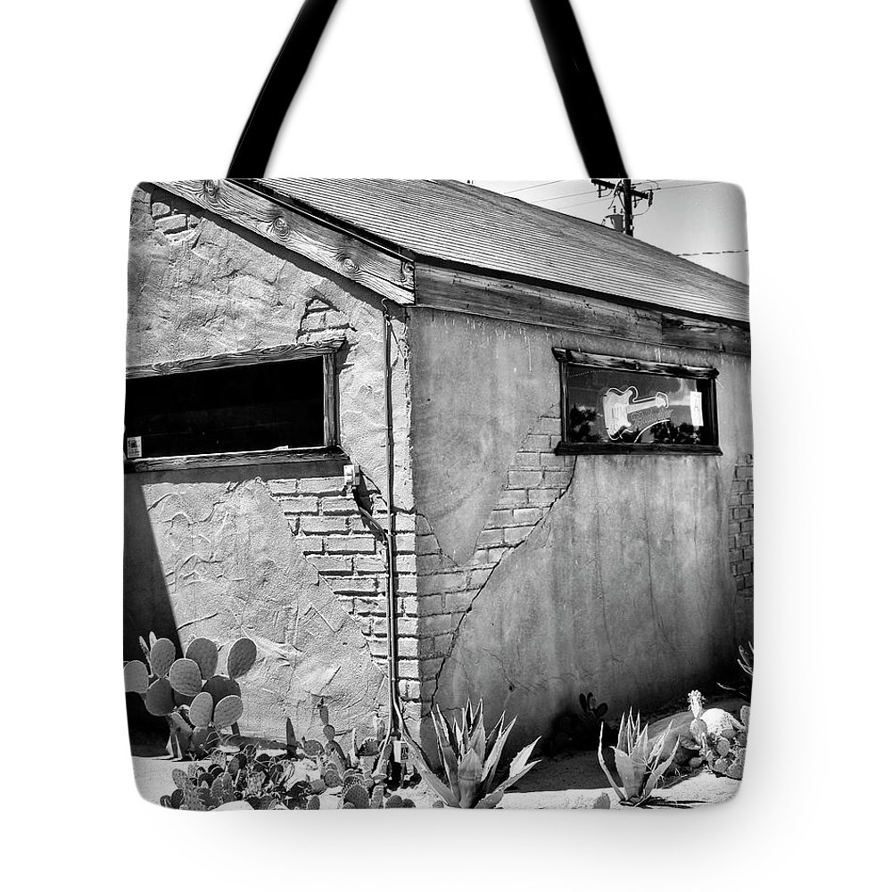 Pioneertown Tote Bag featuring the photograph The Morning After by William Dey