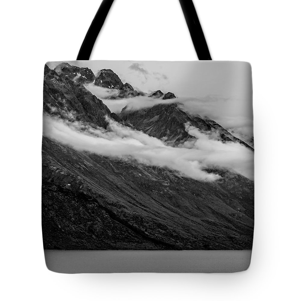 New Zealand Tote Bag featuring the photograph The Mountain by Paul Woodford