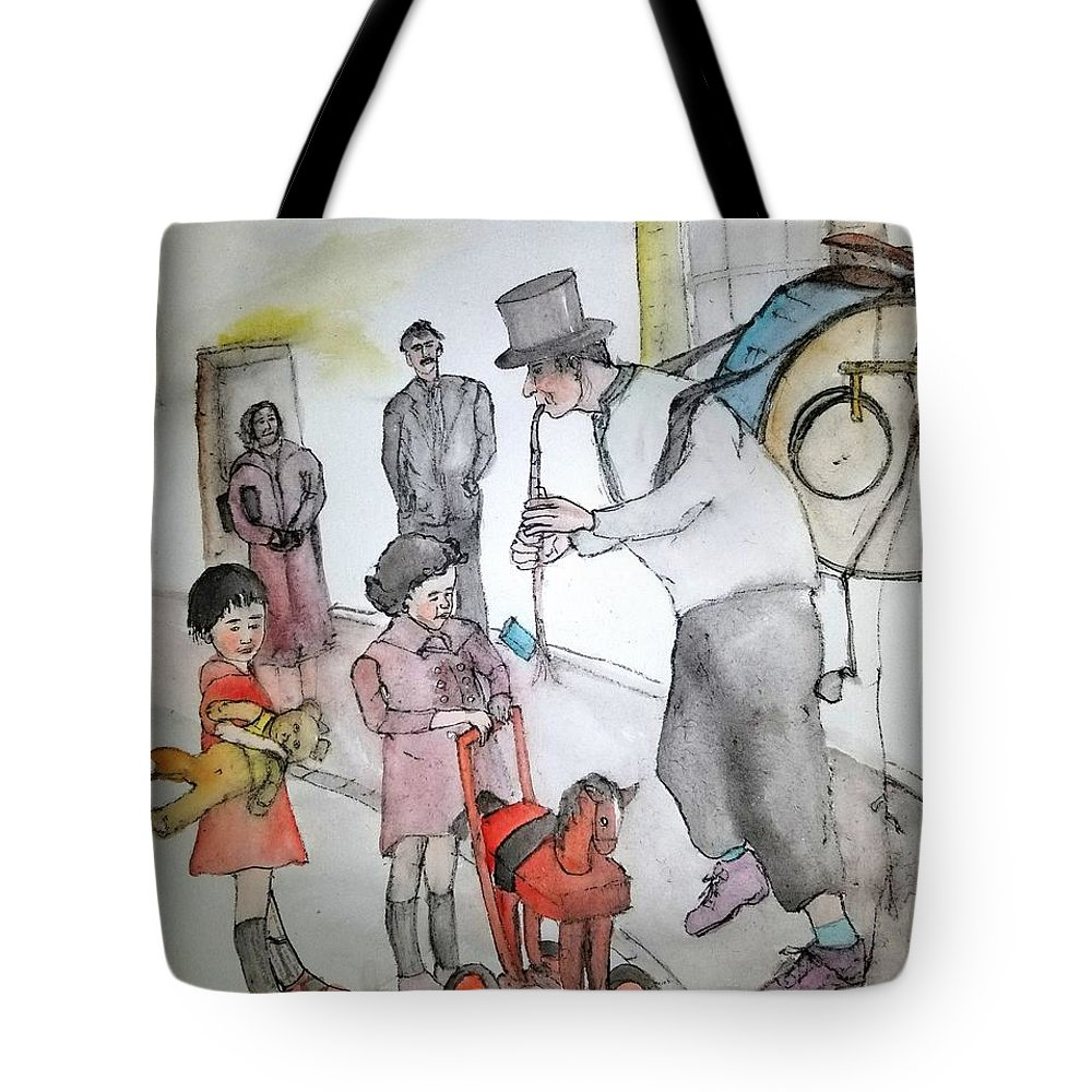 Tote Bag featuring the painting The Music Man by Debbi Saccomanno Chan