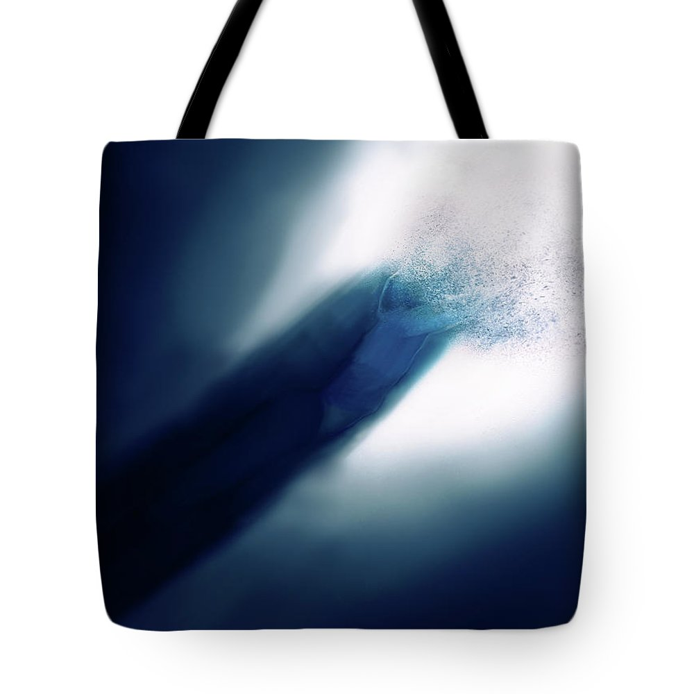 Portrait Tote Bag featuring the digital art The Mysterious Light by Joshua Digital Arts