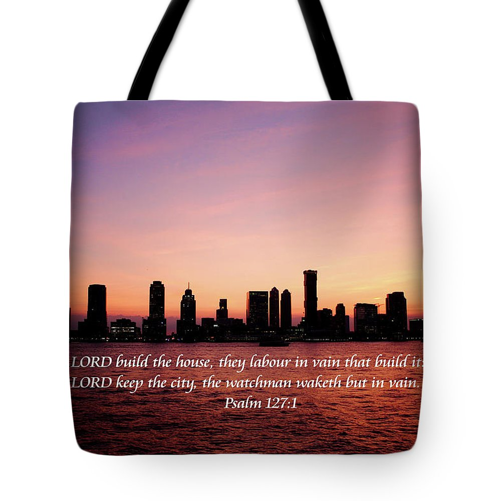Scripture Tote Bag featuring the photograph The Needed Watchman by Bryan Goebert