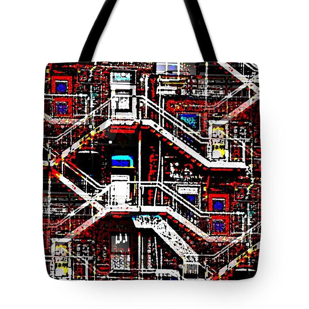 Neighborhood Tote Bag featuring the digital art The Neighborhood by Tim Allen
