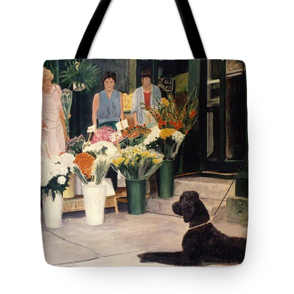 Mums Tote Bag featuring the painting The New Deal by Steve Karol
