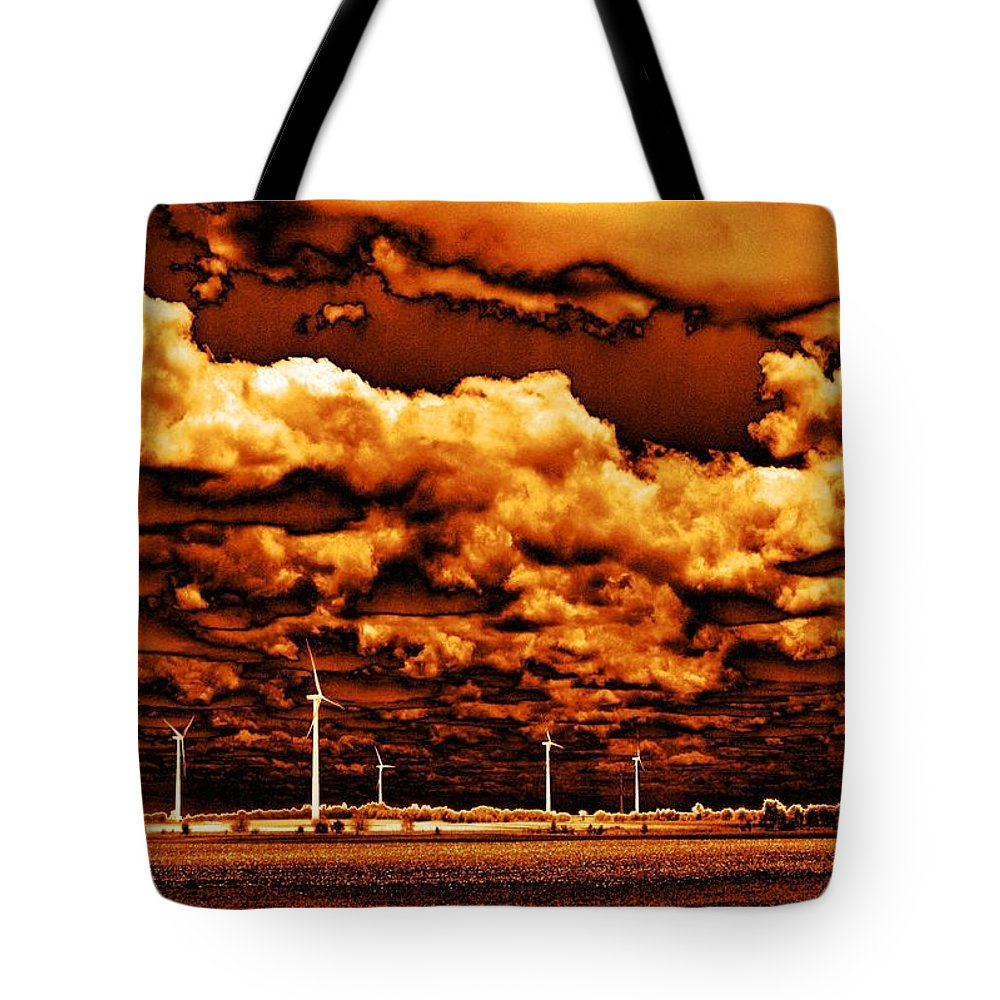 Sky Tote Bag featuring the photograph The New Trees by Ed Smith