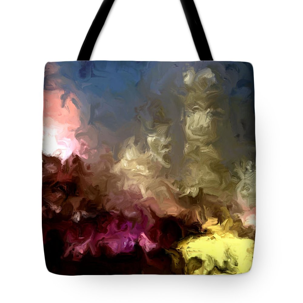 Pink Tote Bag featuring the painting The Night Moves by Wayne Bonney