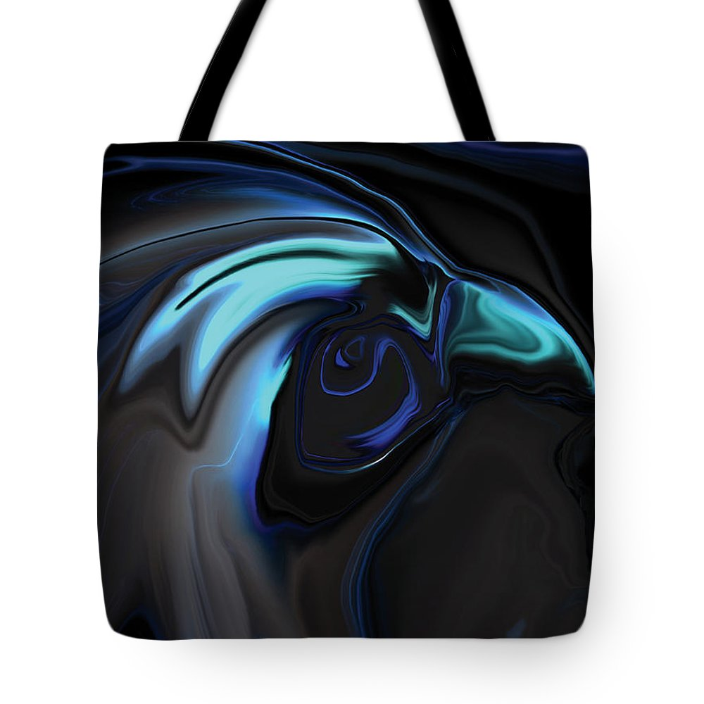 Birds Of Prey Tote Bag featuring the digital art The Nighthawk by Rabi Khan