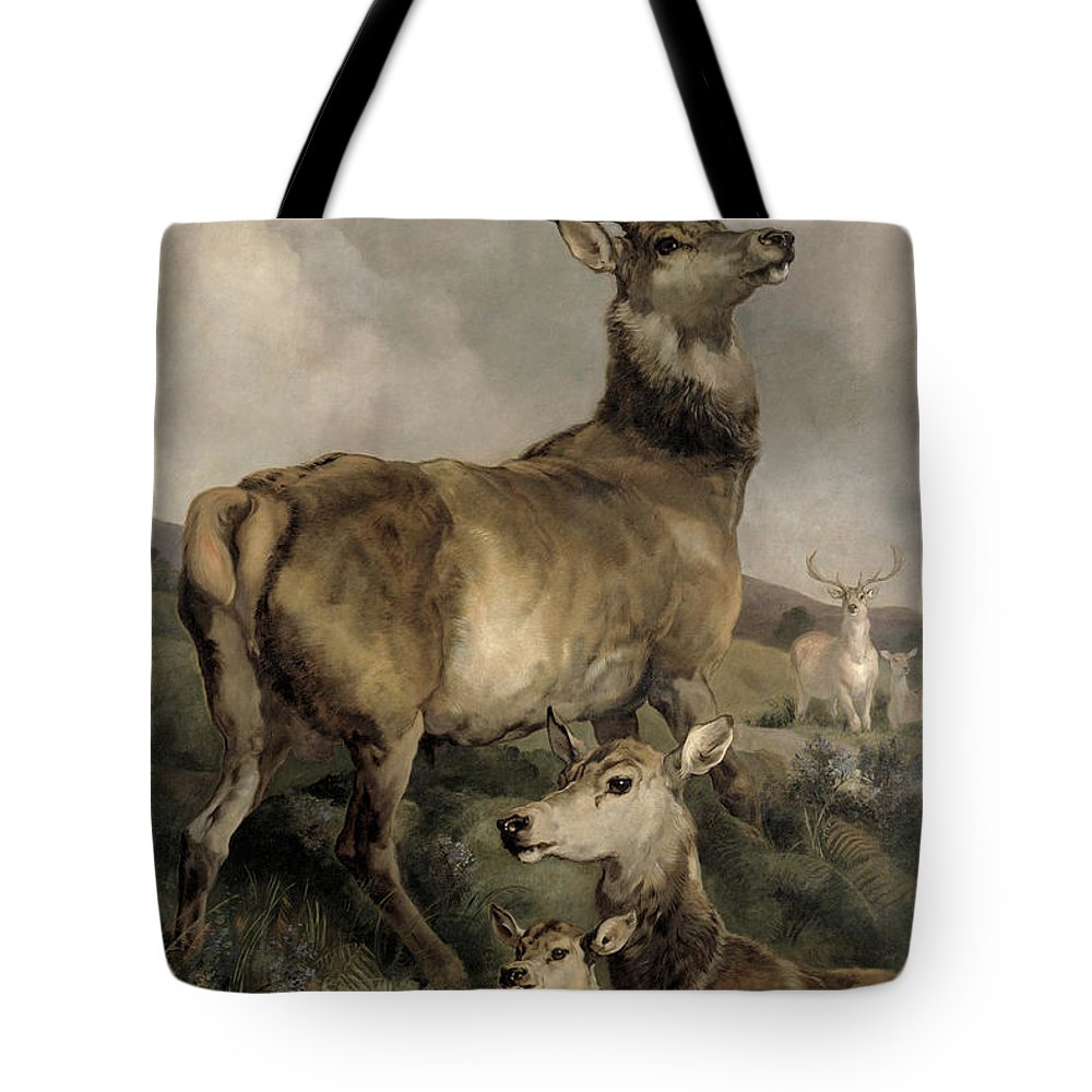 The Tote Bag featuring the painting The Noble Beast by Sir Edwin Landseer