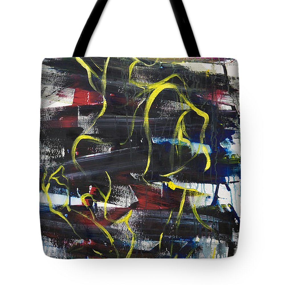 Black Tote Bag featuring the painting The Noose by Sheridan Furrer