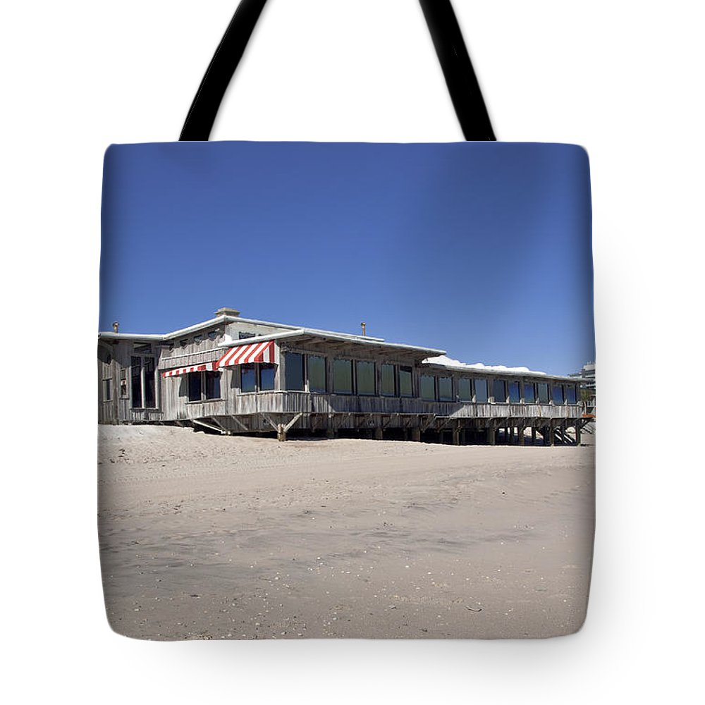 Florida Tote Bag featuring the photograph The Ocean Grill At Vero Beach In Florida by Allan Hughes