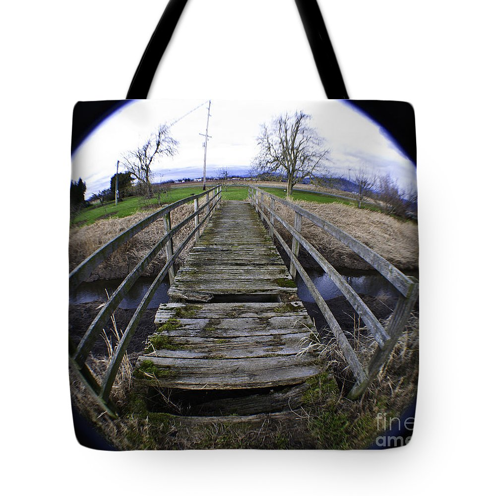 Art Tote Bag featuring the photograph The Old Bridge by Clayton Bruster