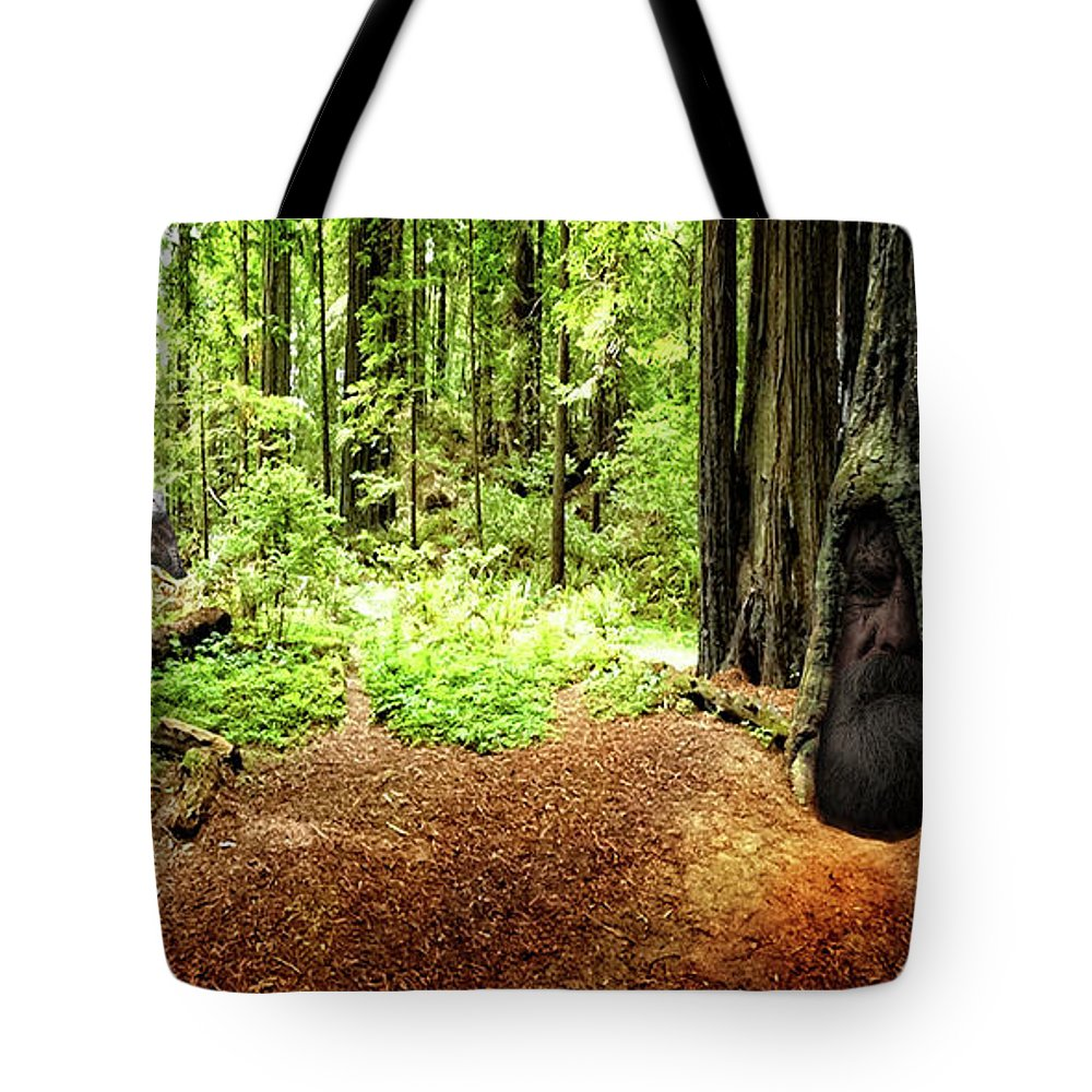 Redwood Tote Bag featuring the photograph The Old Man In The Forest by Mike Braun