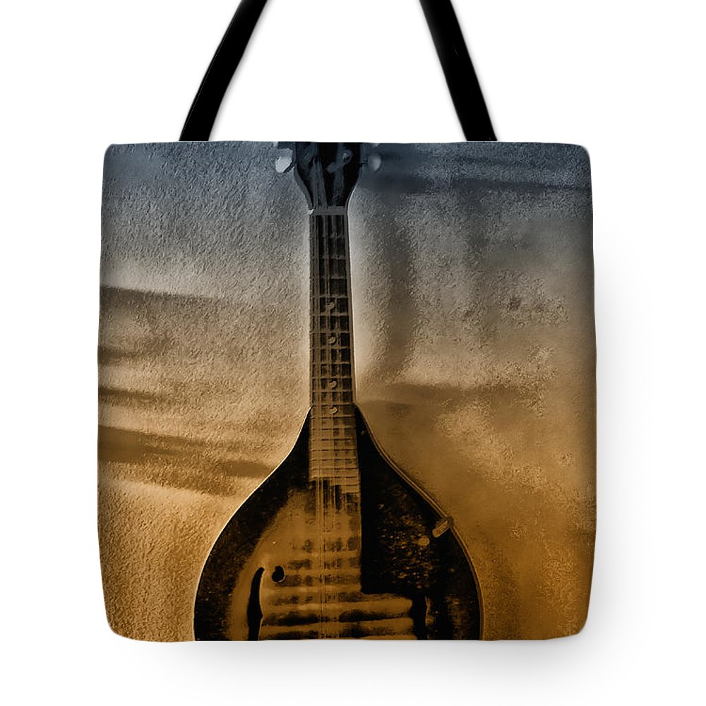 Mandolin Tote Bag featuring the photograph The Old Mandolin by Bill Cannon