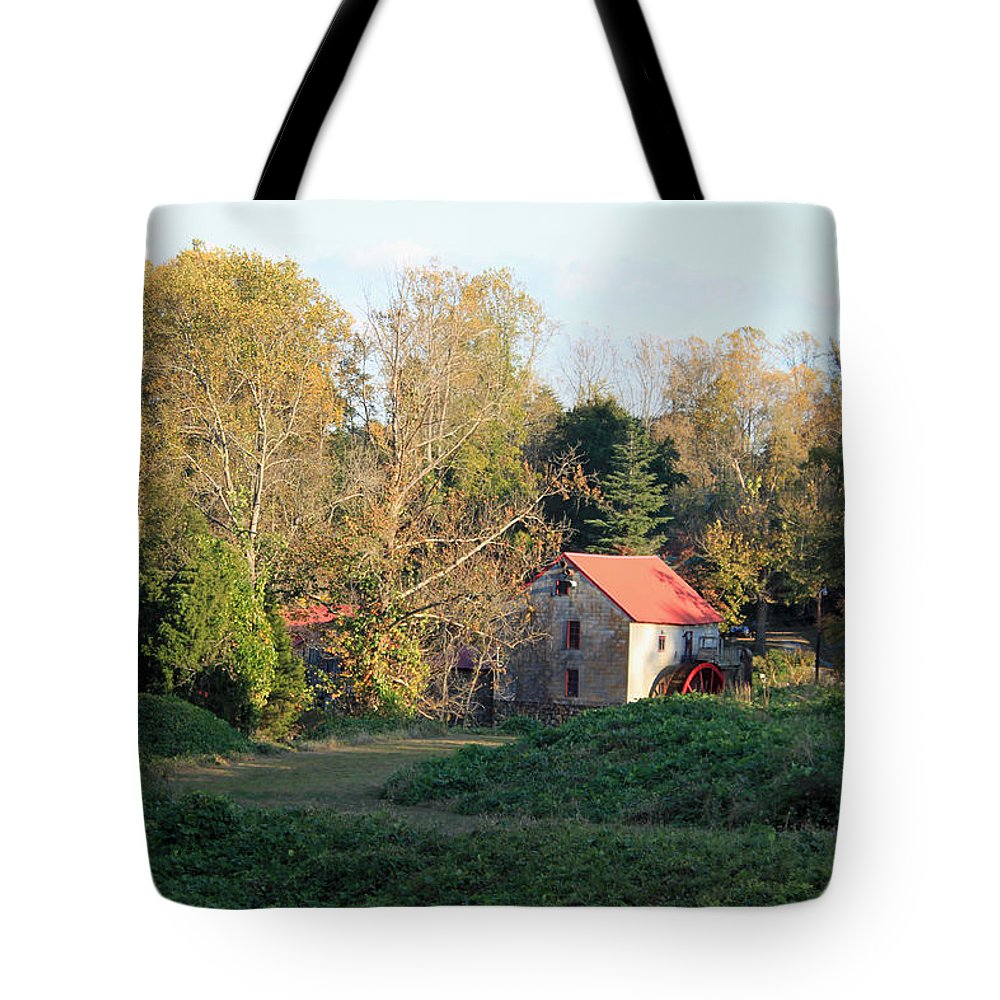 The Old Mill At Guilford Tote Bag featuring the photograph The Old Mill At Guilford II by Suzanne Gaff