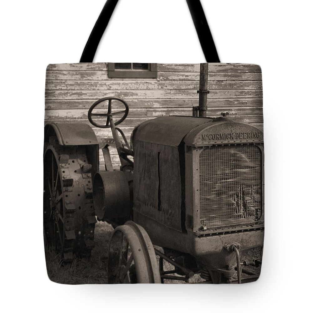 Abandoned Tote Bag featuring the photograph The Old Mule by Richard Rizzo
