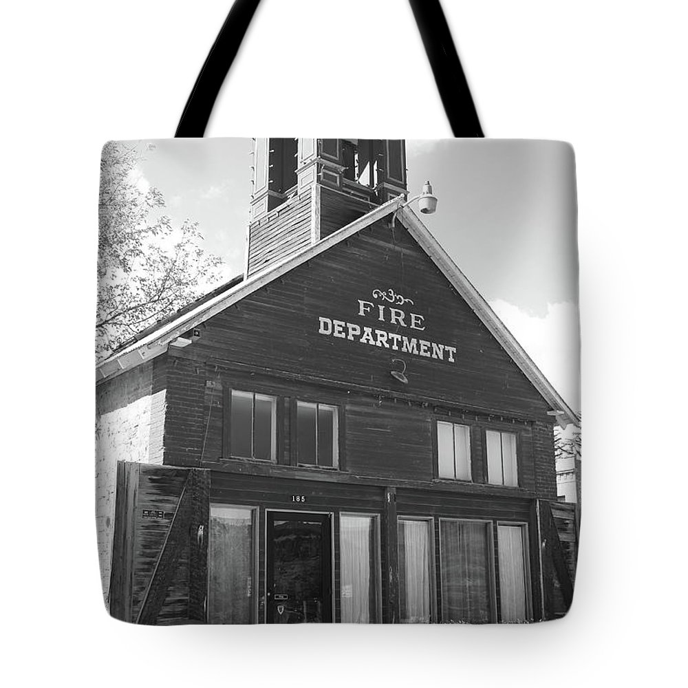 American West Tote Bag featuring the photograph The Old Ridgway Firehouse by Eric Glaser
