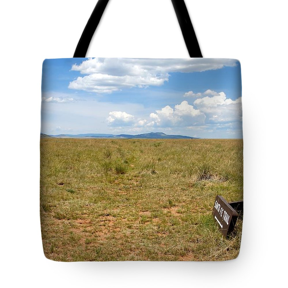 Santa Fe Trail Tote Bag featuring the photograph The Old Santa Fe Trail by David Lee Thompson